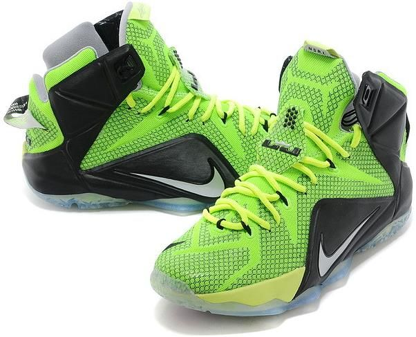 more photos 06ec1 e9036 Lebron 12 For Kids Fluorescent Green Black0