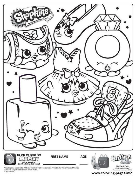 Print Free Shopkins New Coloring Pages Shopkins Colouring Pages