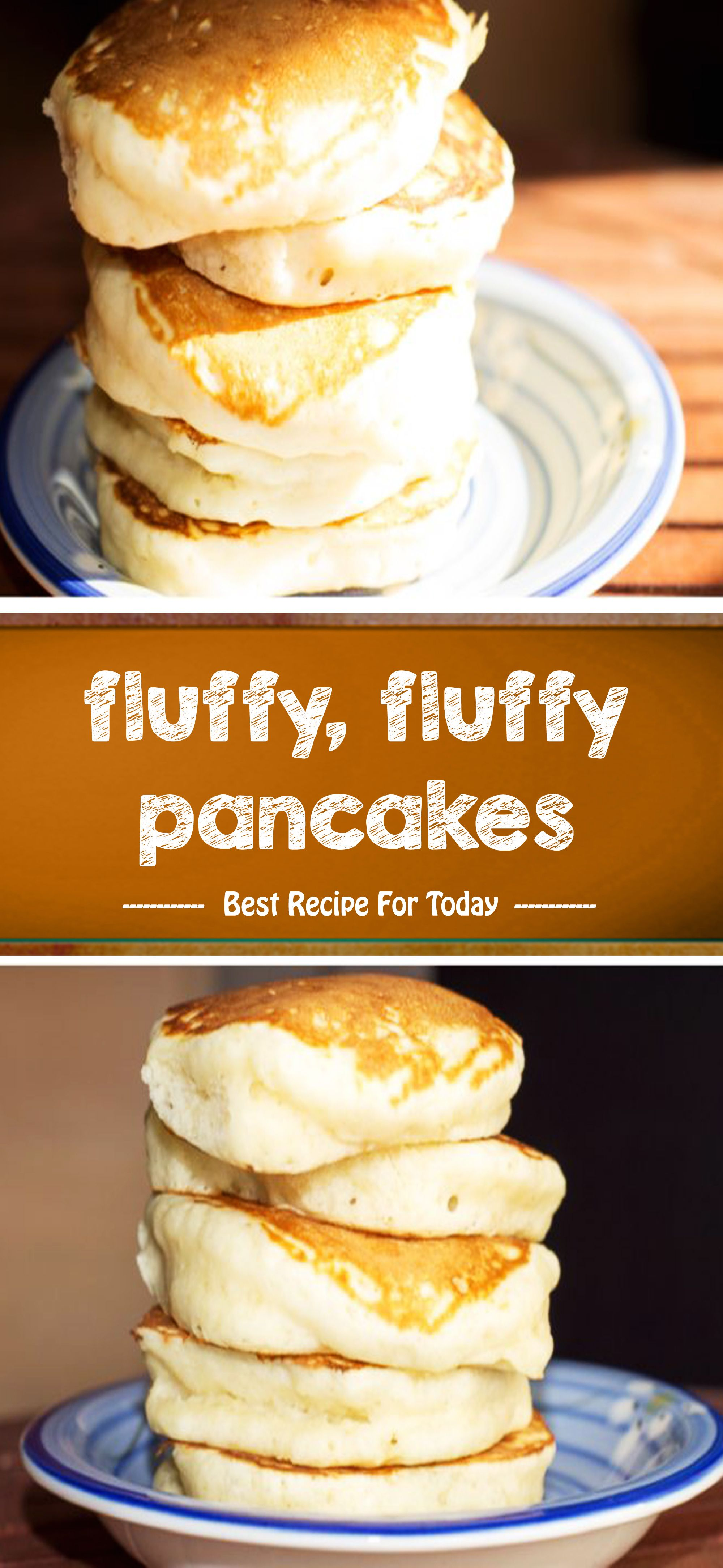 Fluffy Fluffy Pancakes With Images Fluffy Pancakes Baking Recipes Recipes