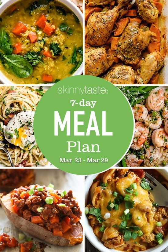 7Day Healthy Meal Plan (March 23March 29) Meal