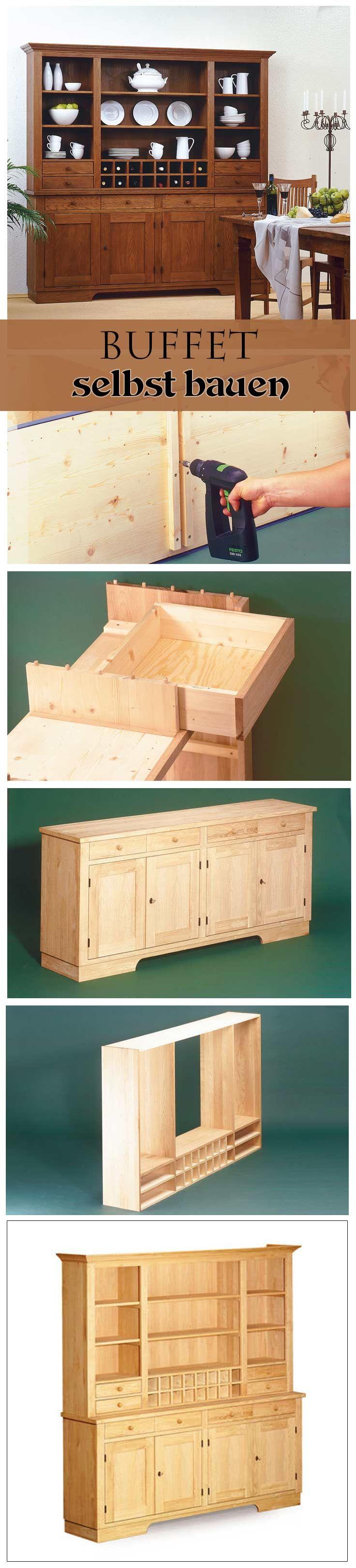 Buffet-Schrank selber bauen | Woodworking, Buffet and Woods