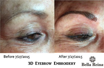 3D Eyebrow Embroidery from Bella Reina Spa - Before and ...