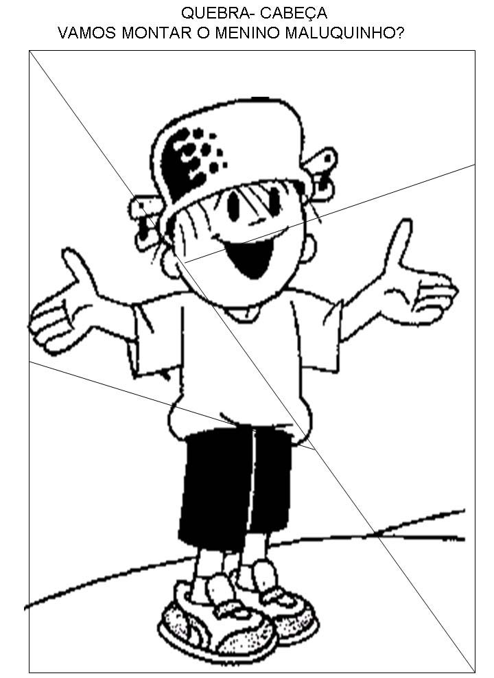 Resultado De Imagem Para Menino Maluquinho Desenhos Para Colorir