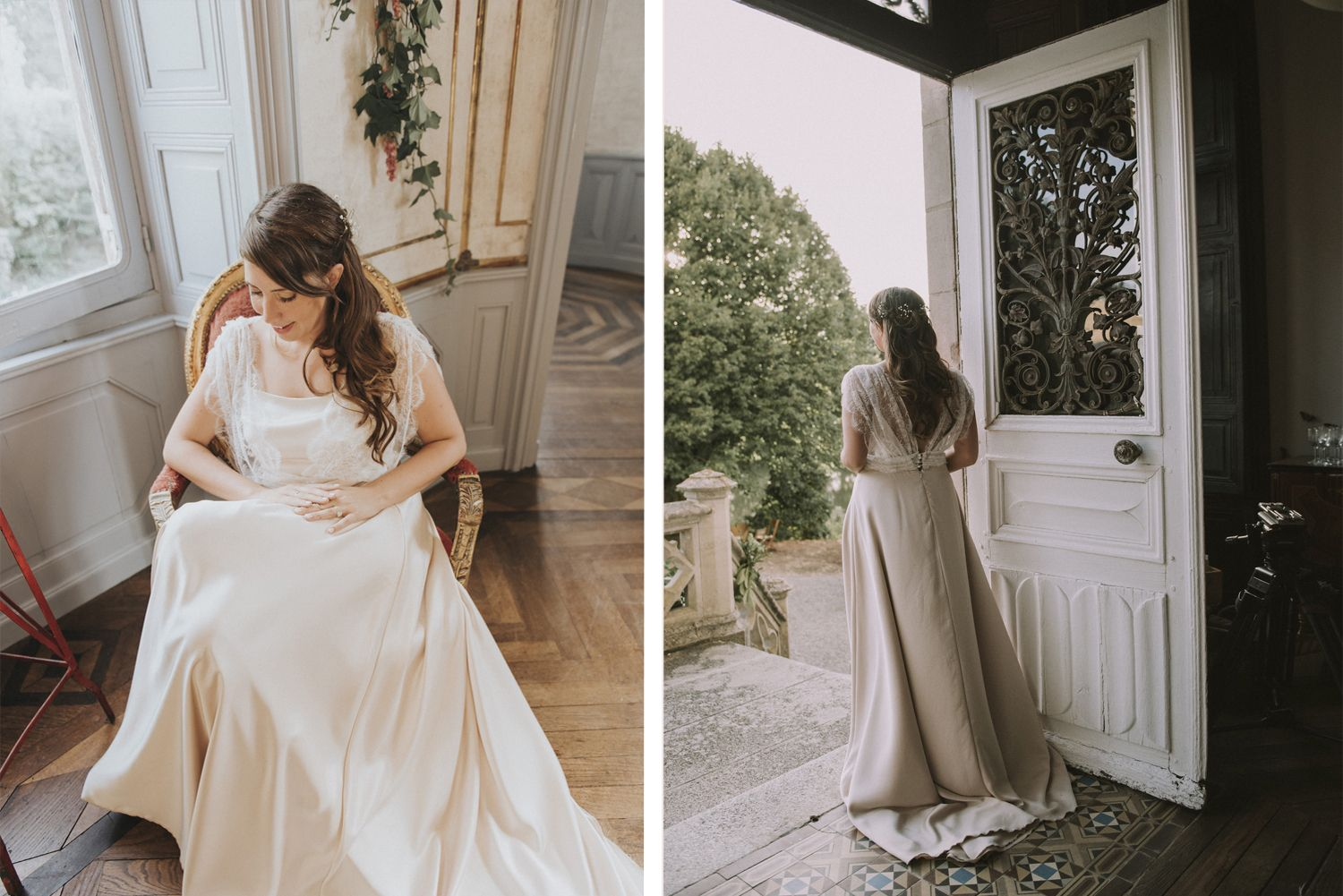 Escape To The Chateau Vintage Wedding In The Chateau De La Motte Husson In 2020 Vintage Wedding Wedding Wedding Dresses Lace