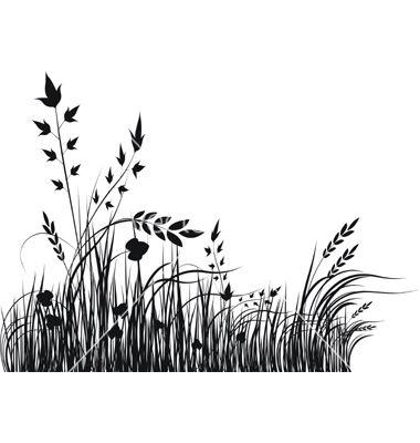 Grass Silhouette Vector Art Download Silhouette Vectors 69598 Grass Silhouette Silhouette Art Silhouette Vector