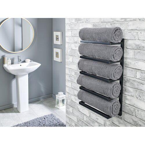 5 Tier Wall Mounted Towel Rack Symple Stuff Finish