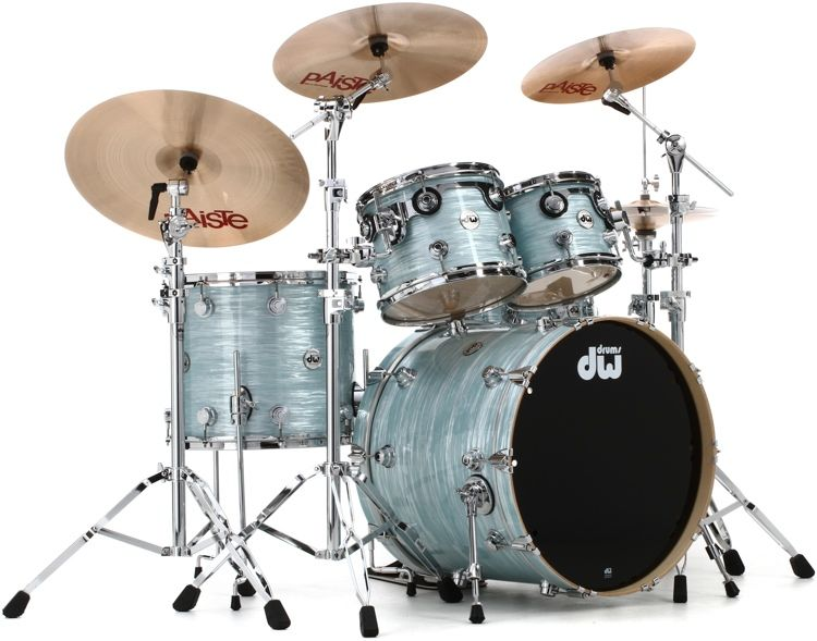 Dw Collector S Series 4 Piece Shell Pack With 10 And 12 Rack Toms 16 Floor Tom And 22 Bass Drum Pale Blue Oyster In 2020 Drum And Bass Shells Oysters