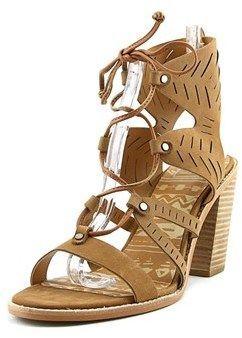 03c61723f02b Dolce Vita Luci Women Open Toe Leather Tan Sandals.