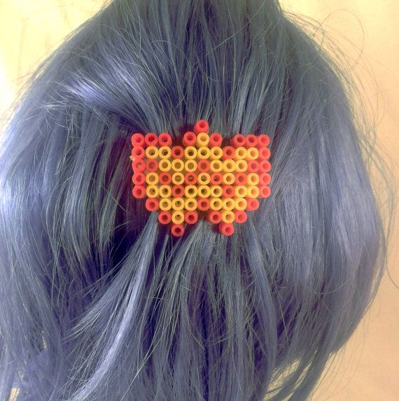 Red and Yellow Superhero themed logo Hair by PuffyTheSlayer, £4.00