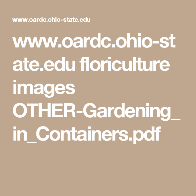 Www.oardc.ohio-state.edu Floriculture Images OTHER