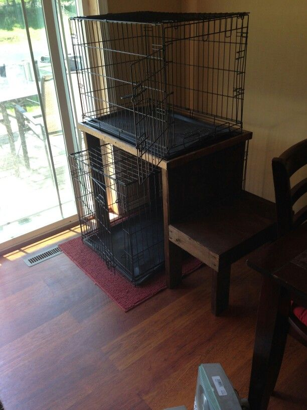 Bunk Bed For Dog Kennels Takes Up Less Space Dog Bunk Beds Dog Crate Dog Bed