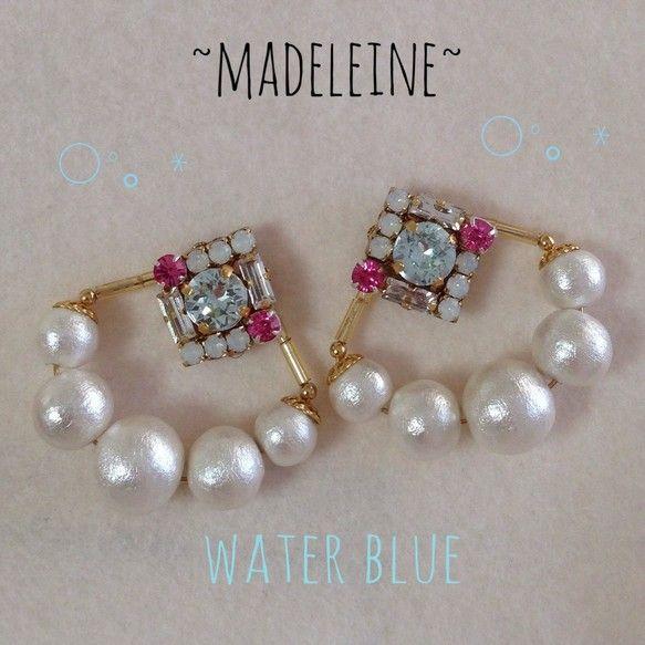 「Madeleine(マドレーヌ)」です(´•͈⌔•͈⑅)イヤリングへの変更も可能です*シェルの形をモチーフにしてスワロやコッ...|ハンドメイド、手作り、手仕事品の通販・販売・購入ならCreema。