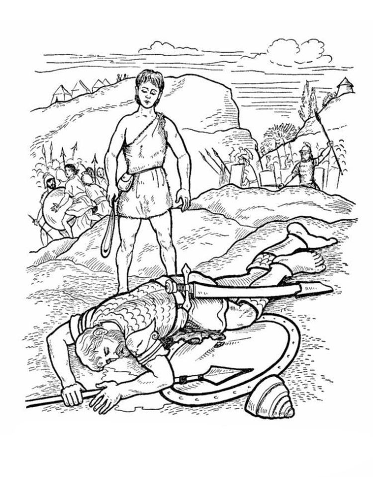 David And Goliath Coloring Pages Pdf You Must Have Heard About The Story Of David And Goliath How Can A Bible Coloring Pages Bible Coloring David And Goliath
