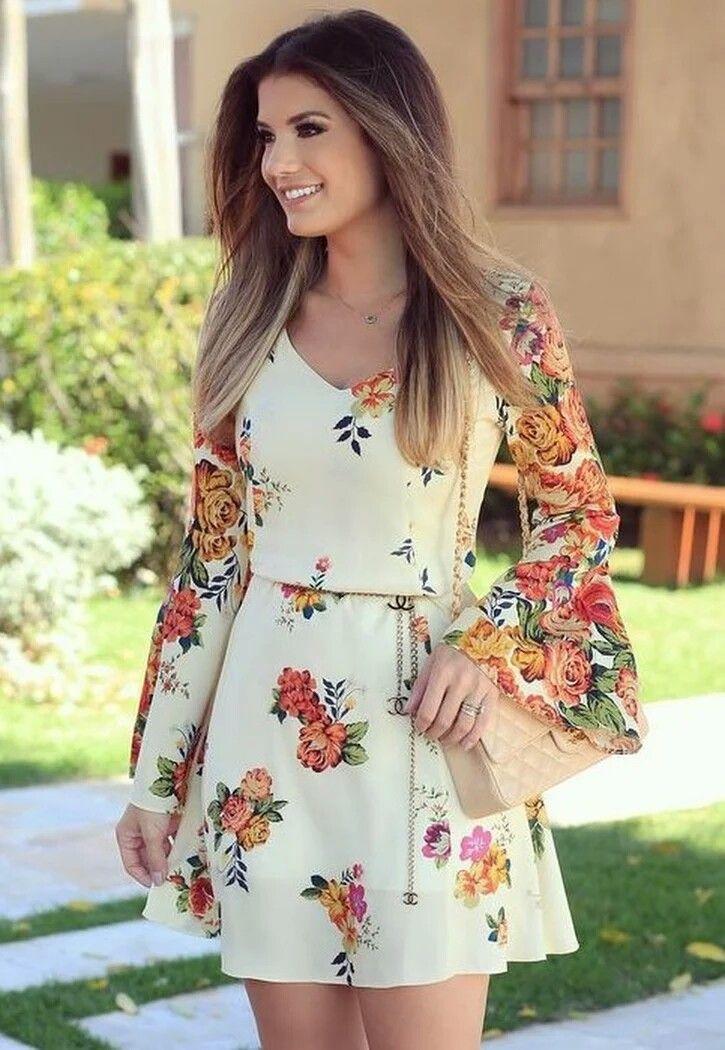 a08cdc8e1 hermoso y delicado estampado   juam   Vestidos, Vestidos elegantes y ...