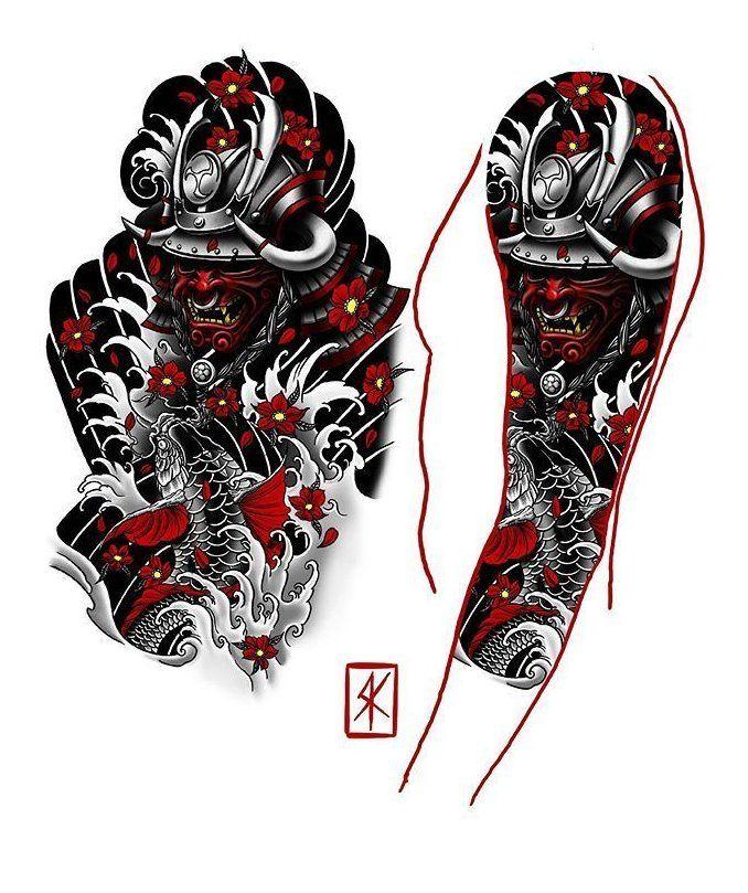japanese sleeve tattoos sketch