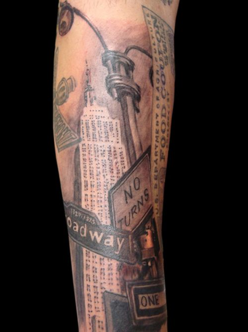Building Tattoos Designs Empire State Building Building Tattoo Forearm Tattoo Design Tattoo Designs