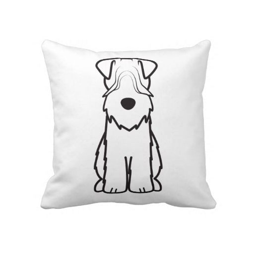 Soft Coated Wheaten Terrier Dog Cartoon Throw Pillow | Wheaten ...