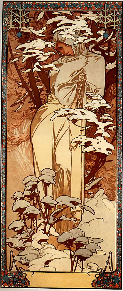 Alphonse Mucha - Winter                                                                                                                                                      More