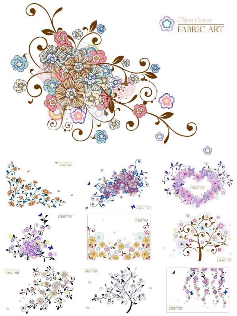 フリーダウンロード きれいなお花の背景イラスト素材 ai free