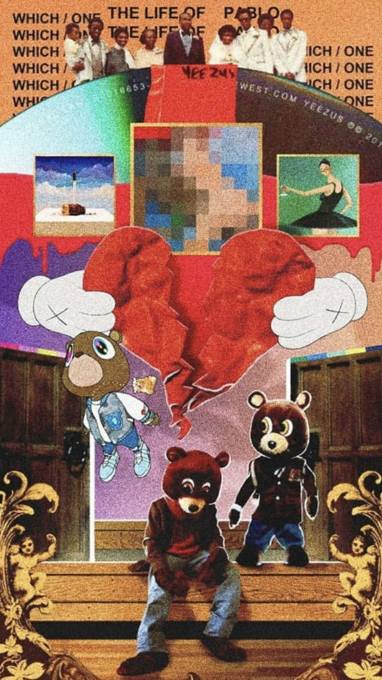 Pin By Josh Flint On Kanye West In 2020 Iphone Wallpaper Rap Bunny Wallpaper Kanye West Wallpaper