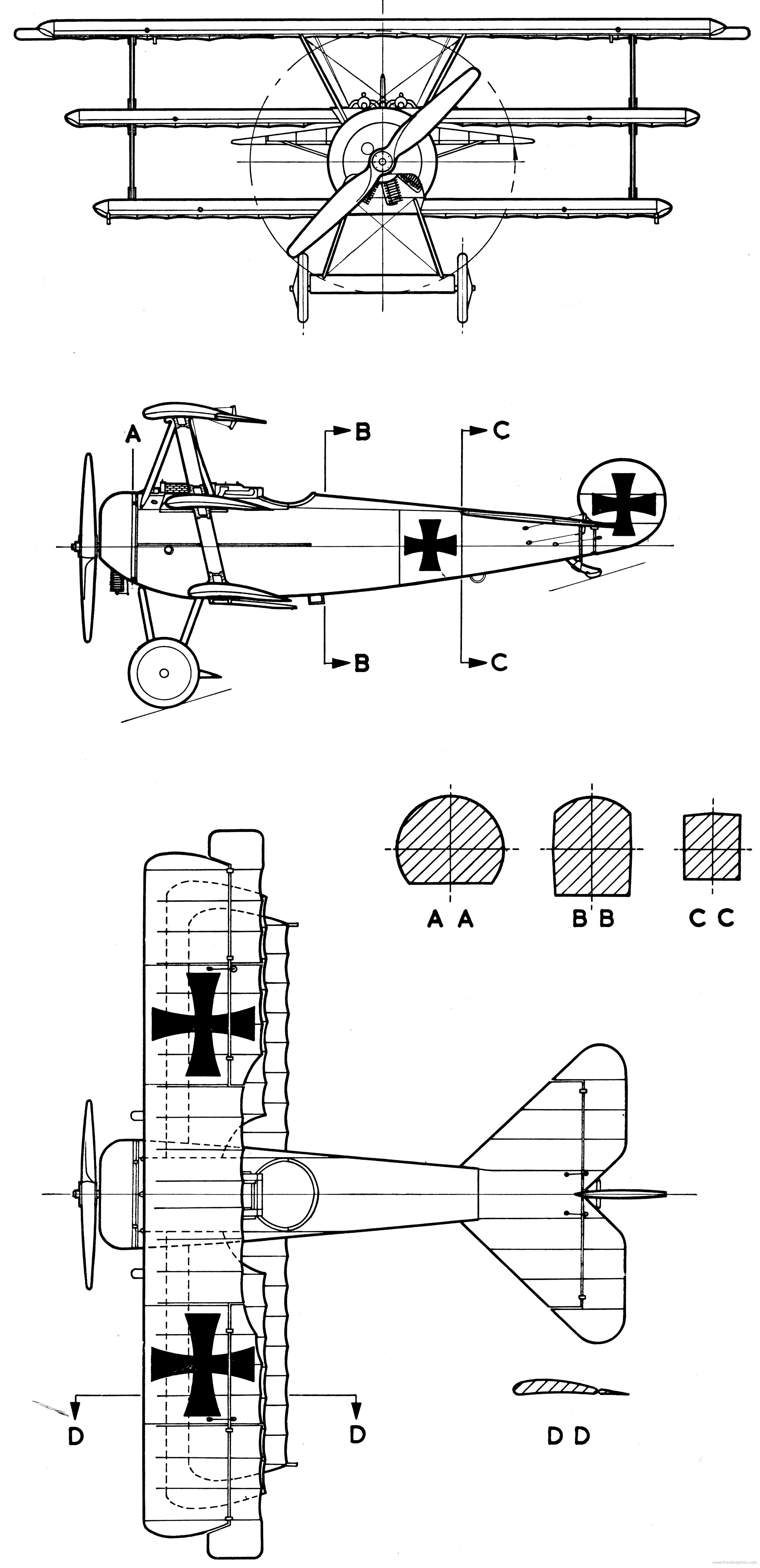 Triplano Del Imperio Aleman Fokker Dr I