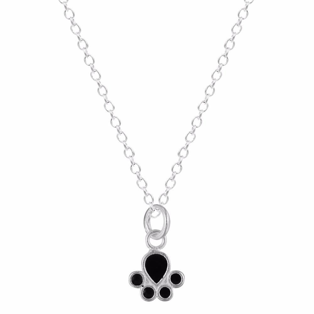 Sterling silver black dog paw necklace products pinterest dog