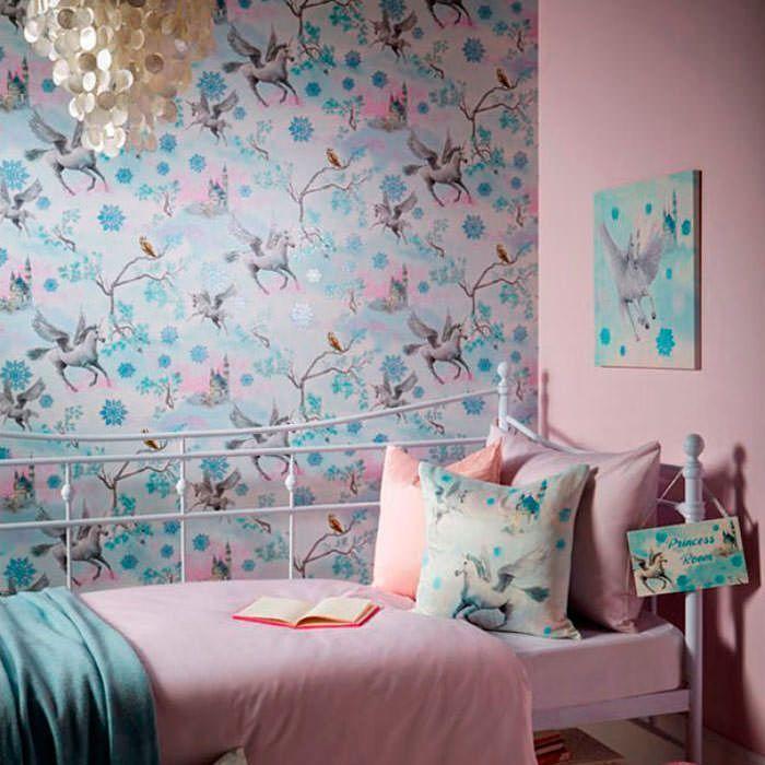 Papel Pintado De Unicornios Diseño De Interiores Dormitorios Decoración De Unas