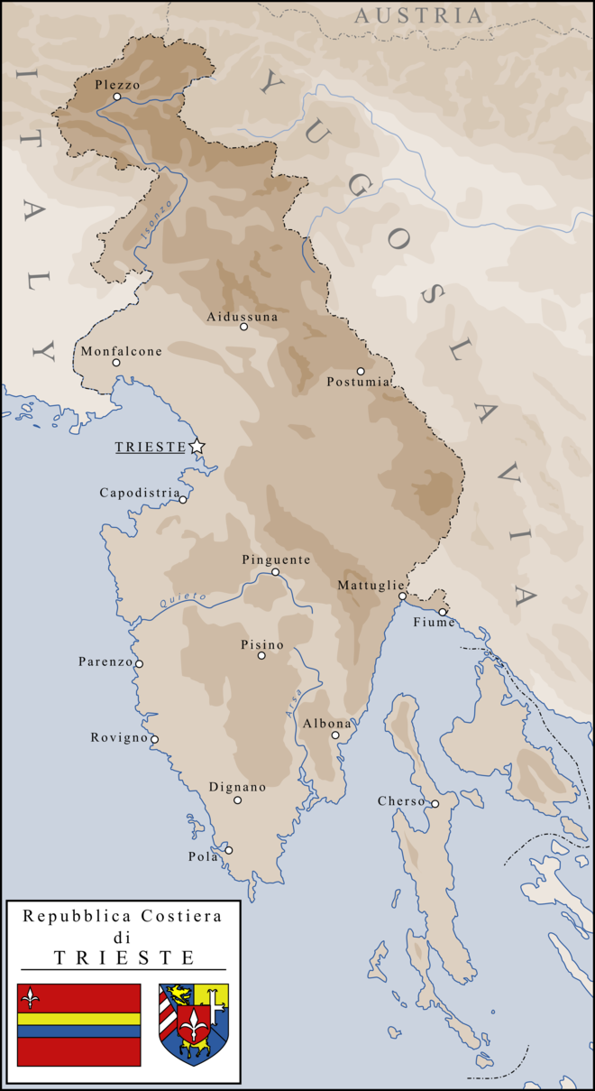 Coastal Republic of Trieste by SoaringAven Maps