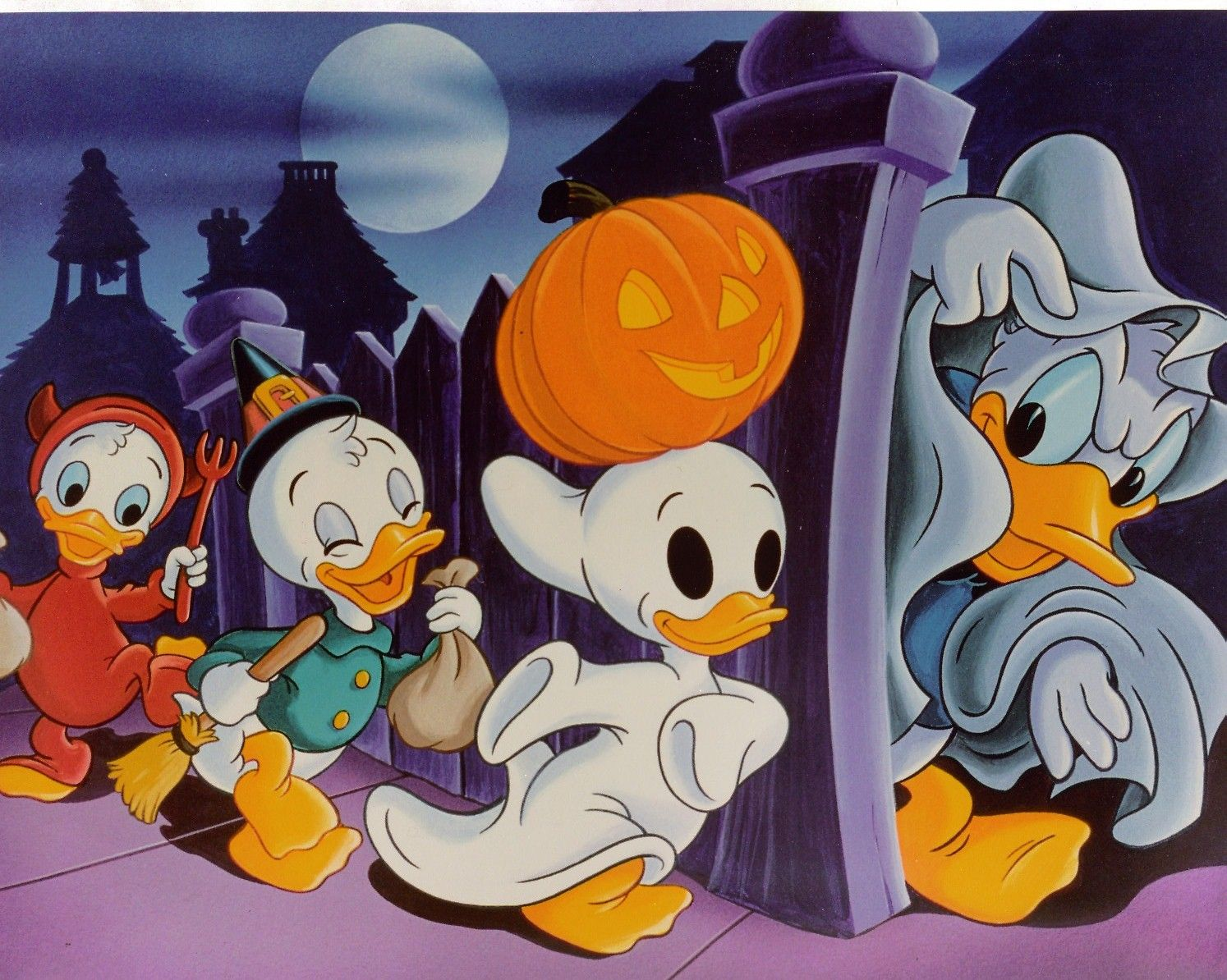 Donald Duck Halloween Trick or Treat Halloween cartoons