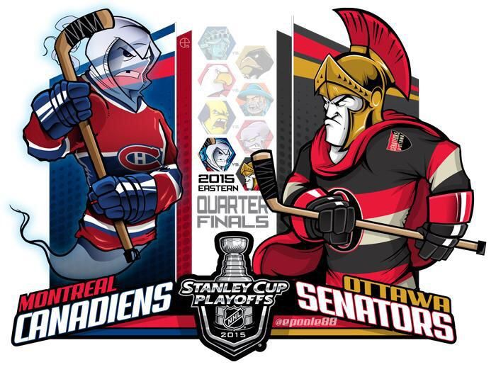 #EPoole88 (Eric Poole) is back with his renditions of the first-round Stanley Cup playoff matchups. This is for the Eastern Conference series between the Montréal Canadiens and the Ottawa Senators.