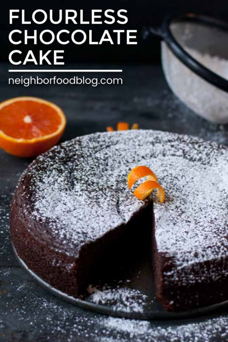 This Flourless Chocolate Cake recipe is dense and rich
