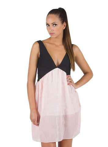 CHIFFON VEST DRESS
