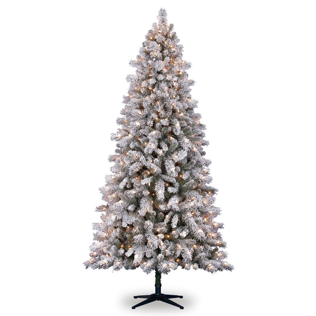 7 5ft Pre Lit Vermont Pine Flocked Artificial Christmas Tree Clear Lights By Ashland Flocked Artificial Christmas Trees Artificial Prelit Christmas Trees Pine Christmas Tree