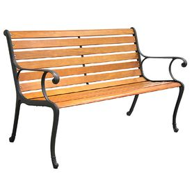 Garden Treasures 50 5 In L Patio Bench 118 Lowes Lowes Home Improvements Patio Bench Home Improvement