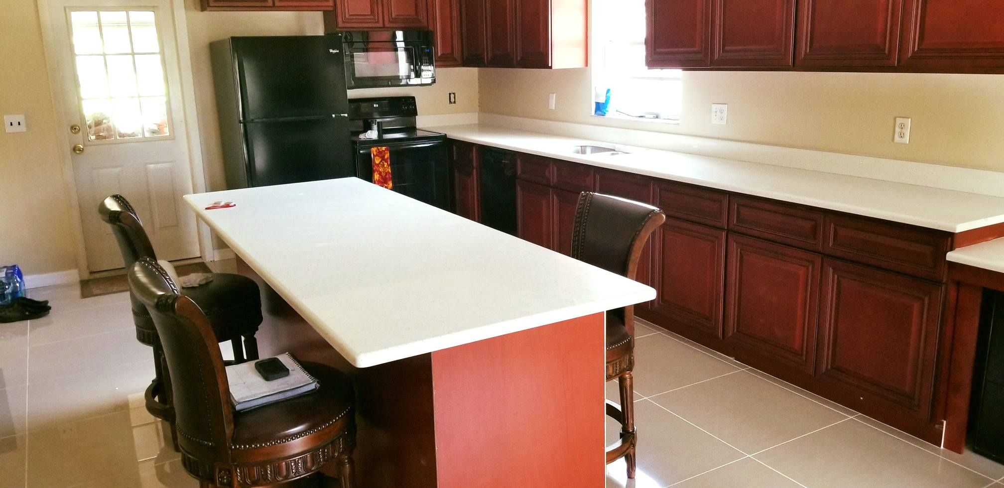 amazing custom made kitchen island countertop made by using crystal white phoenix quartz on kitchen island ideas white quartz id=32120