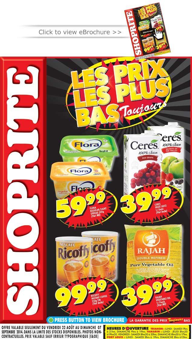 Shoprite Hyper Ebrochure Voir La Brochure Online Les Prix Les Plus Bas Toujours Aout 2014 Pops Cereal Box Powdered Milk Nescafe