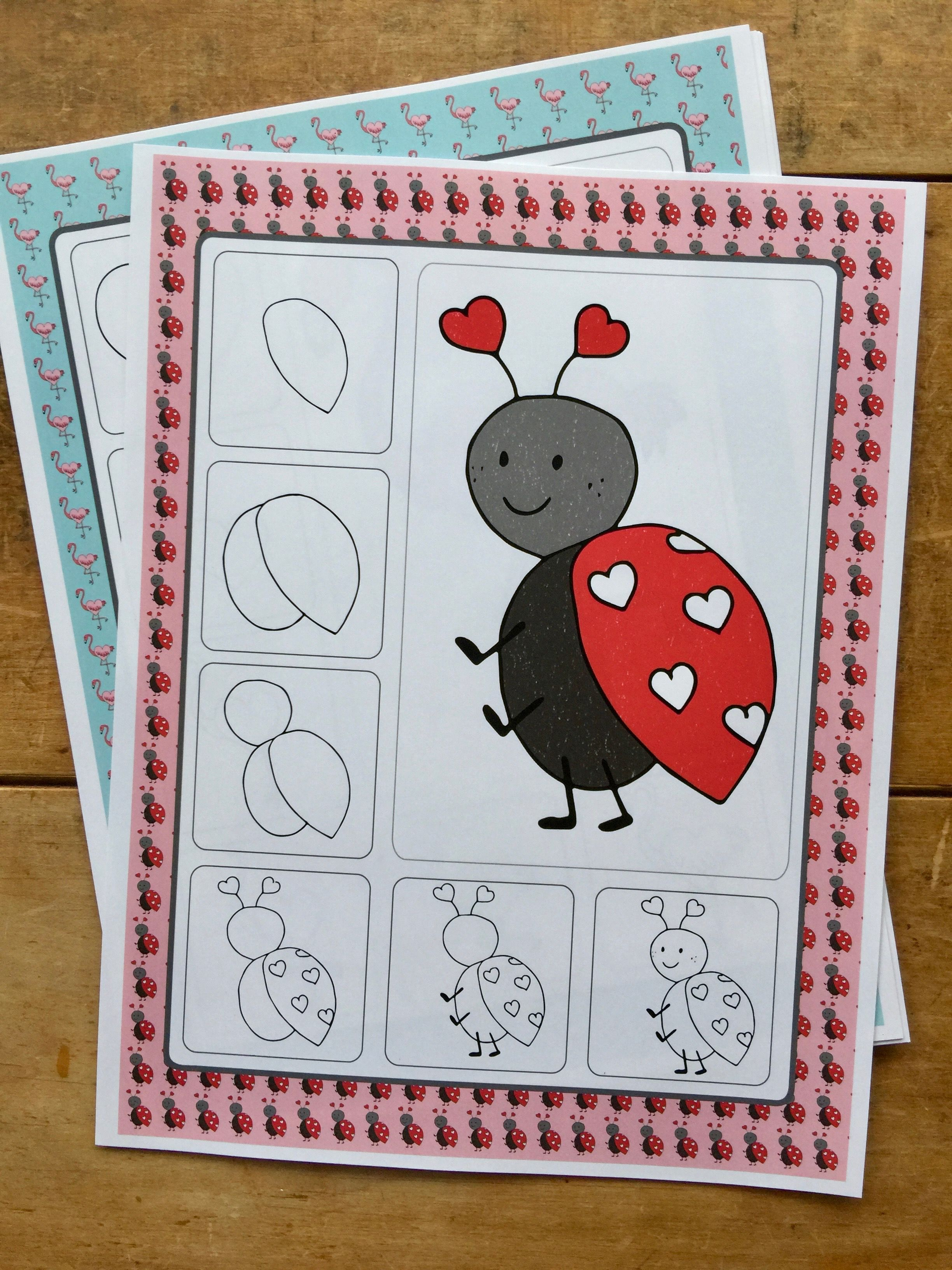 Valentine S Day Art Activities February Directed Drawings