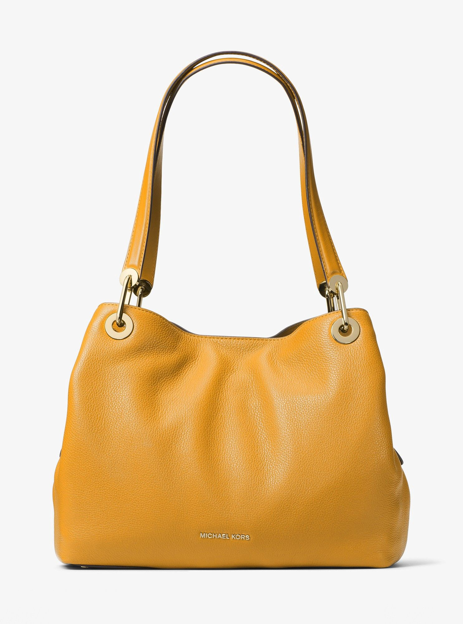 4d7823eccda0 Michael Kors Raven Large Leather Shoulder Bag - Acorn One Sizexns