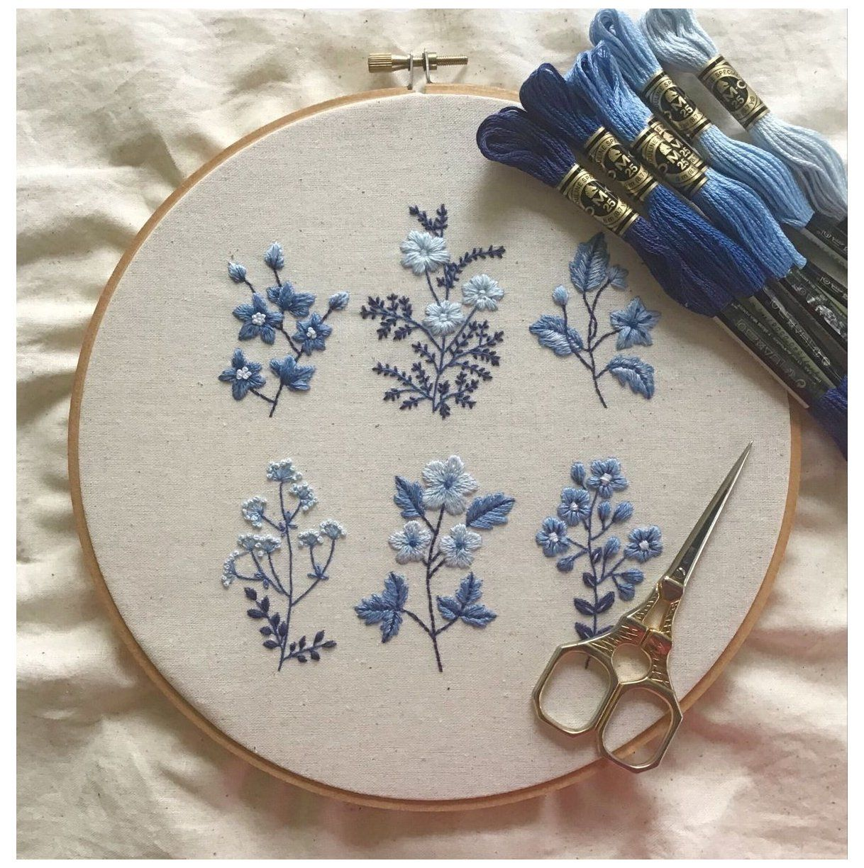 hand embroidery flowers pattern