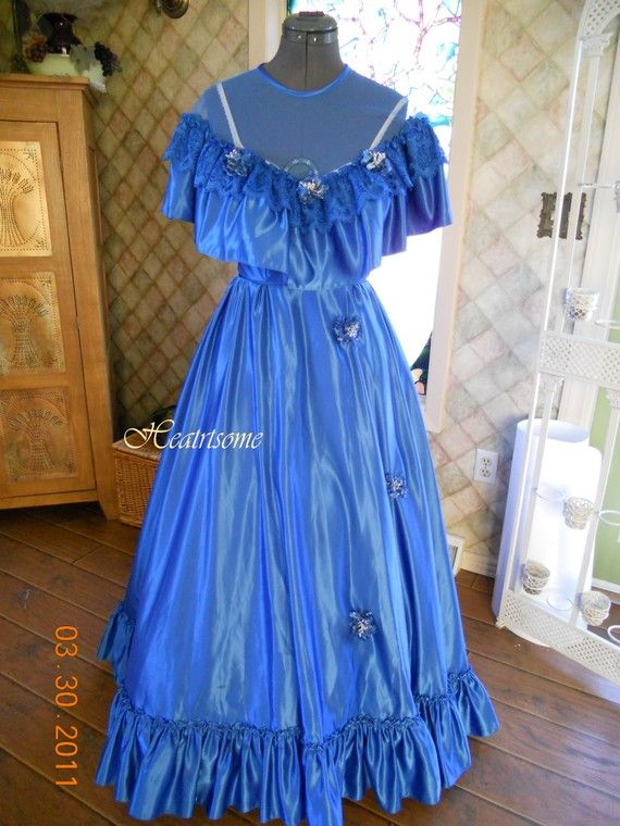 Vntg 80s gown dress Southern Belle Victorian by HeartsomeHalos, $85.00