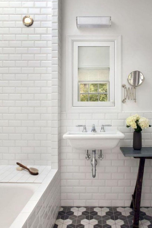 nice 32 Minimalist White Bathroom With Subway Tile   Bathroom ...