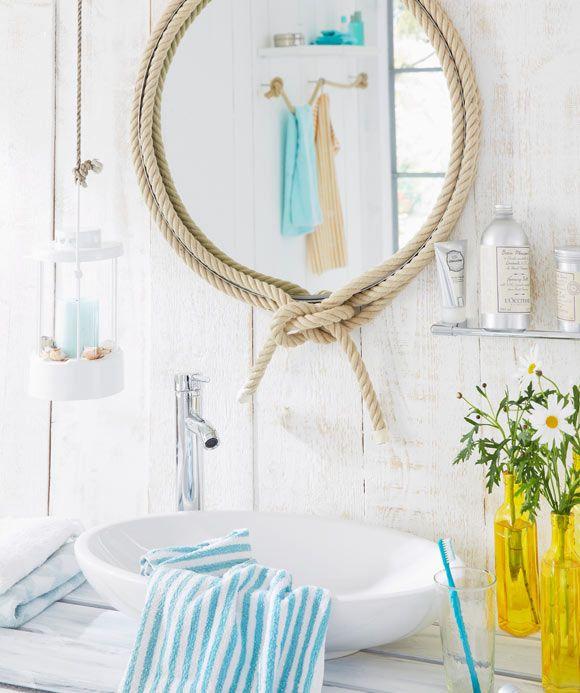 charming badezimmer accessoires maritim #1: Dezente Meeres-Accessoires machen das Badezimmer zum maritimen Dreh- und  Angelpunkt des Zuhauses #