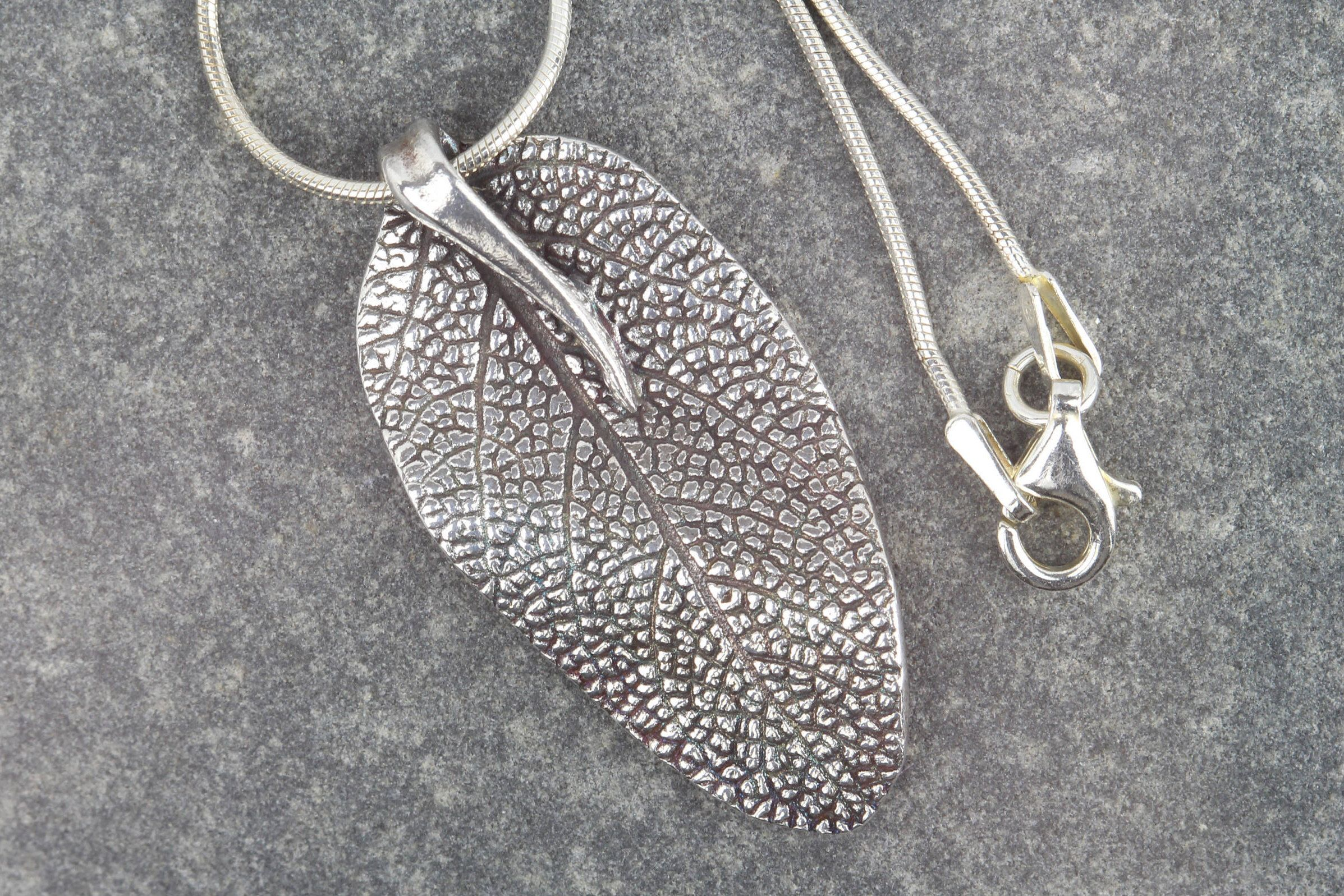 Sage silver leaf necklace solid silver leaf pendant real leaf sage leaf leaf pendant nature lover pure silver nature jewellery real leaf mozeypictures Image collections