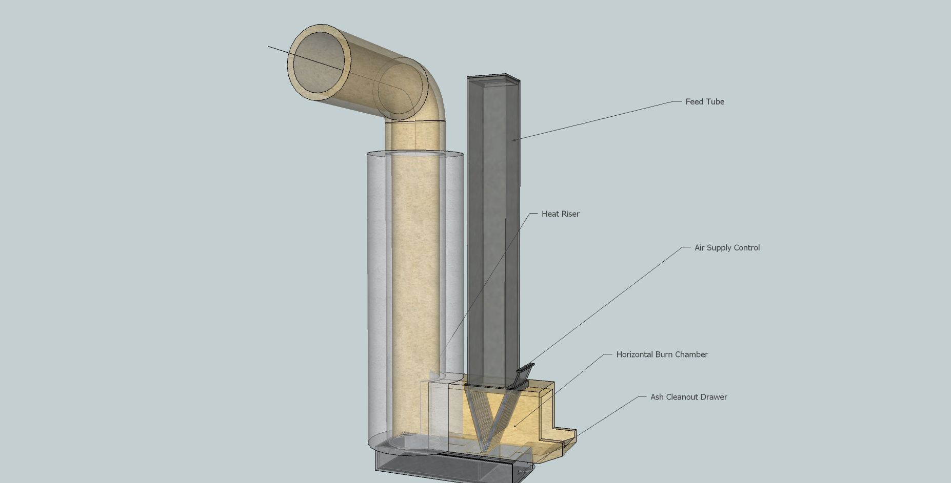Filename description a view of the for Rocket stove heater design
