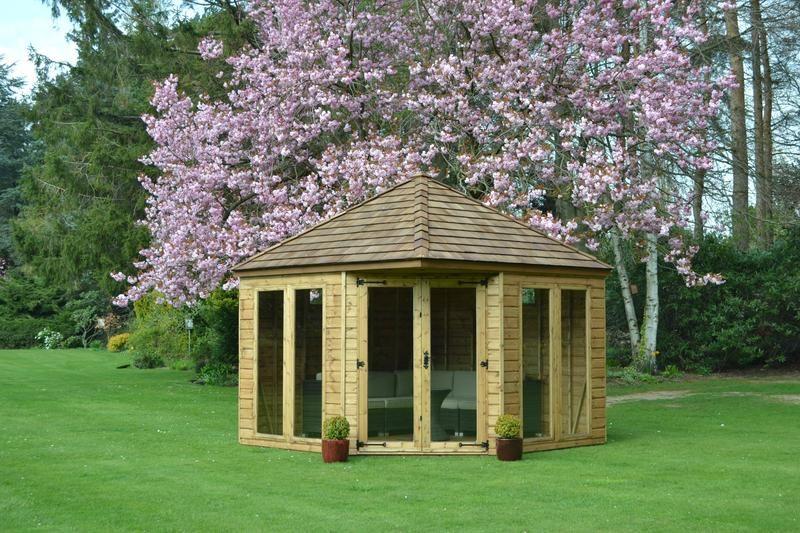 Best Henley Shiplap Cladding Corner Sheds Corner Summer House 400 x 300