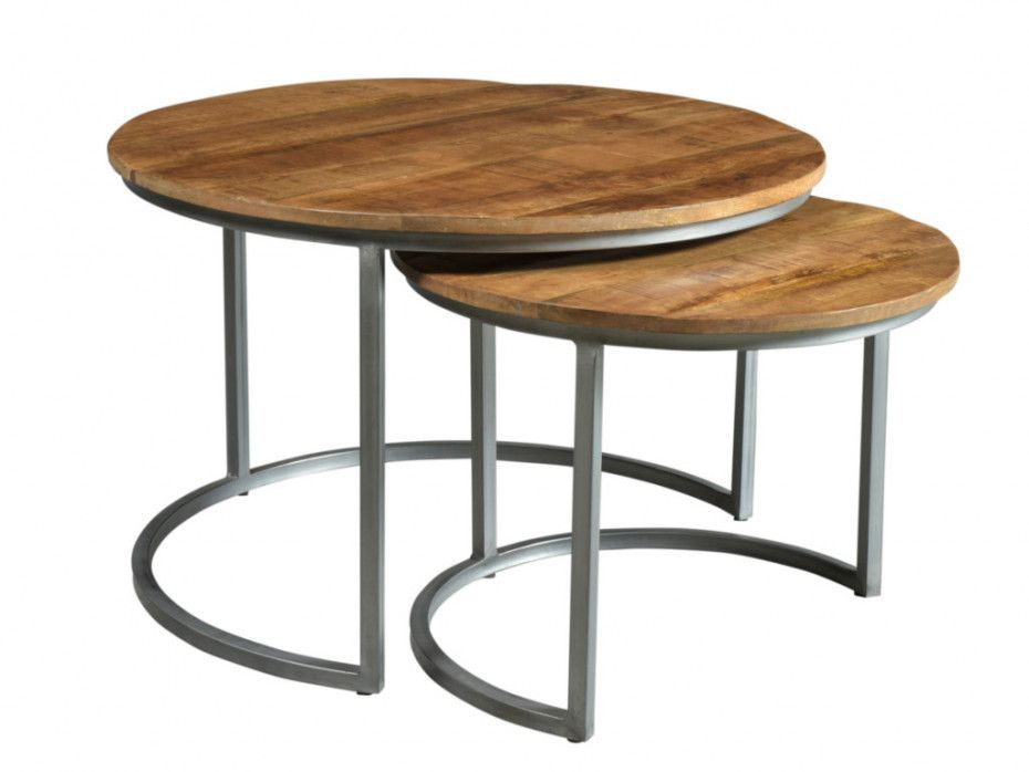 Couchtisch 2er Set Mangoholz Metall Quetzal Table