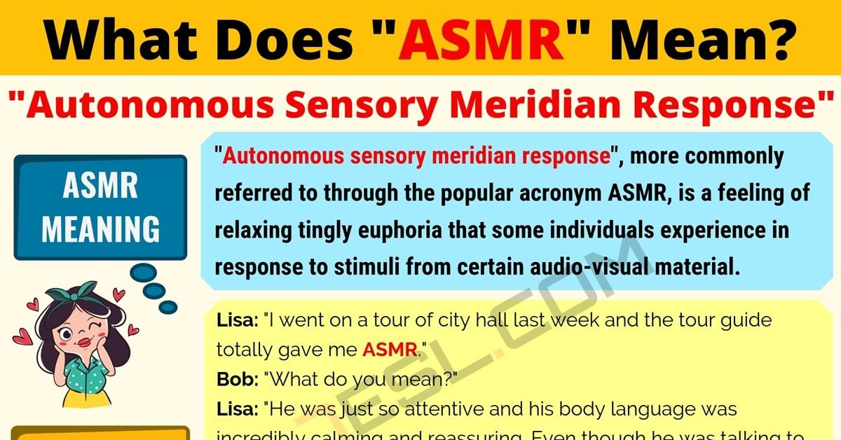 ASMR Meaning: What Does ASMR Mean? Interesting Text