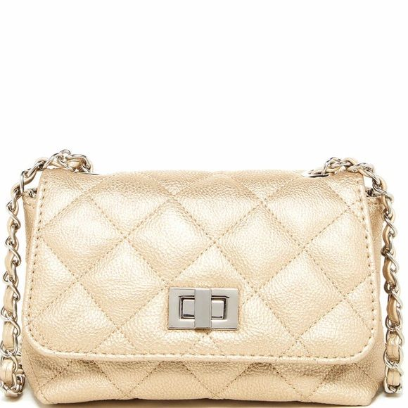 8ce2f550c3c Steve Madden Lovely quilted crossbody bag Charming quilted detail cover  this chic crossbody with woven chain