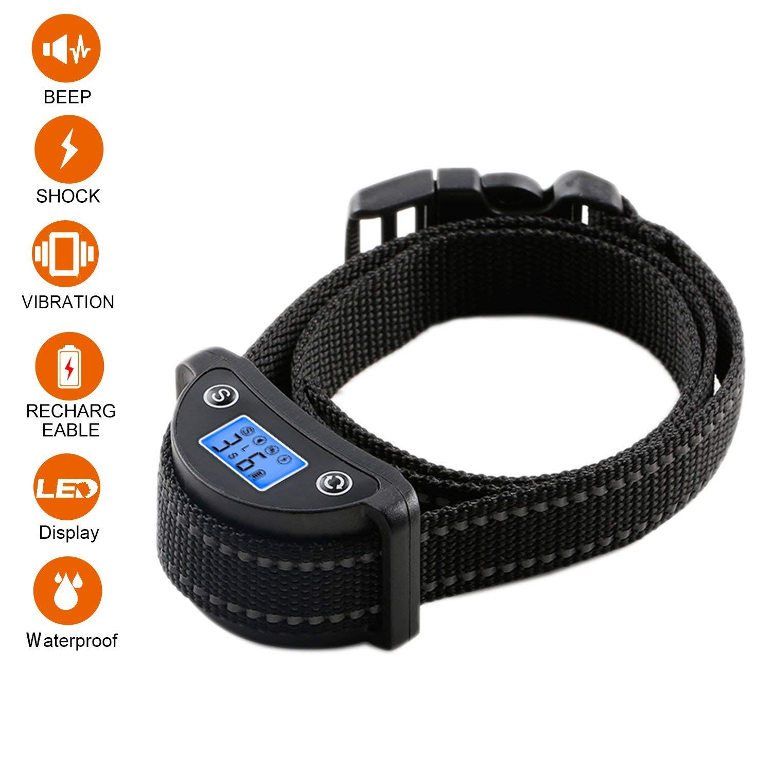 Newest 2018 Upgraded Bark Collar Rechargeable Training Dog