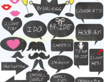 bachelorette party photo booth props Buscar con Google Thinks